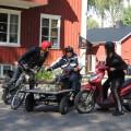 Uppladdning i Brunskog inför sista etappen