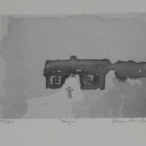 """Göran Samuelsson - Litografi """"Månljus"""""""
